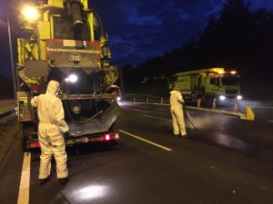 Night works Spillage Clearance on Motorway