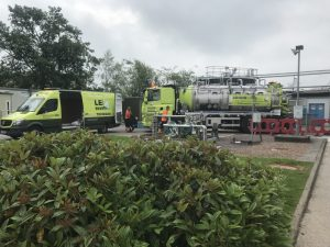 Stainless Steel Jetvac and Technical Services Van onsite