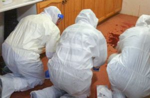Trauma Clean Up Specialists cleaning up blood trauma